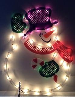 impact innovations christmas lighted window decoration santa face 95013d