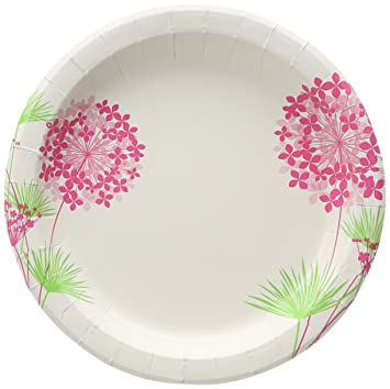 Glad Round Paper Plates Pink Hydrangea 8.5 Inches 50 Count  sc 1 st  Amazon.com & Amazon.com: Glad Round Paper Plates Pink Hydrangea 8.5 Inches 50 ...