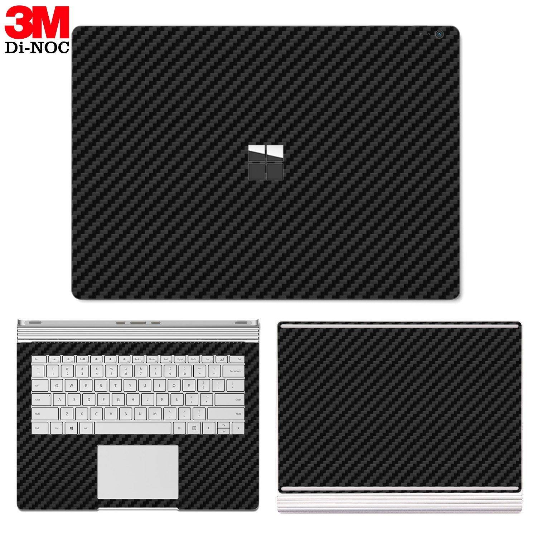 SopiGuard Microsoft Surface Book 2 (15'') Carbon Fiber Precision Edge-to-Edge Coverage Easy-to-Apply Vinyl Skin Sticker Wrap (3M Di NOC Carbon)