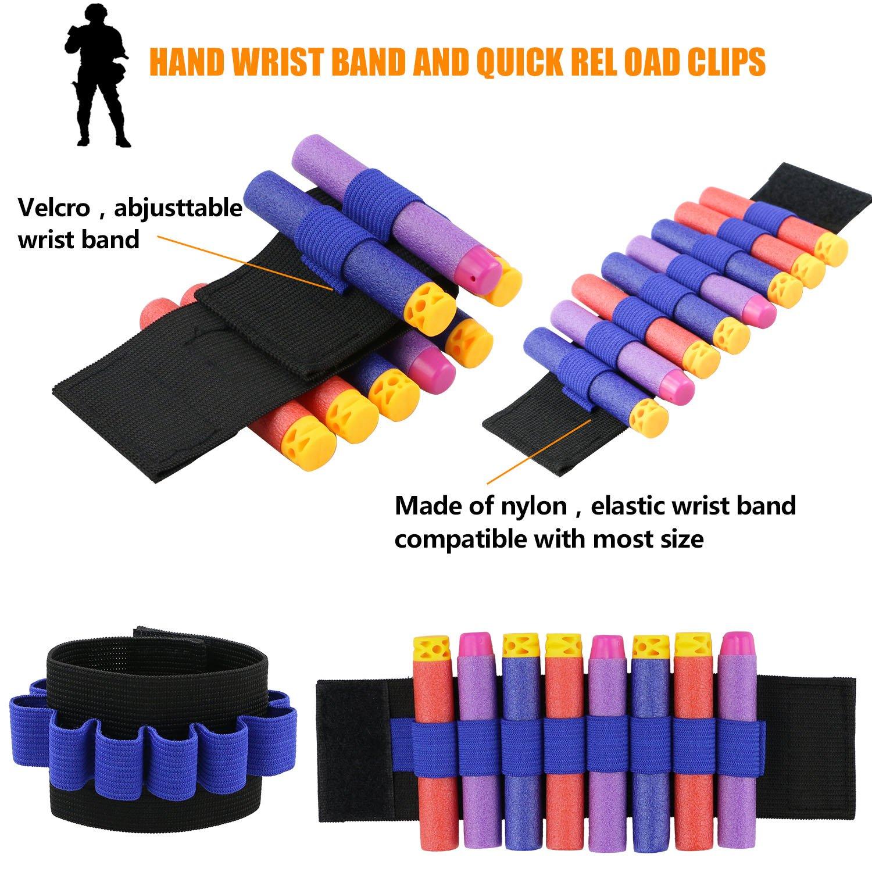Kids Tactical Vest Crmicl Blasters Jacket Kit For Nerf Gun N Reload 1500 Strike Series
