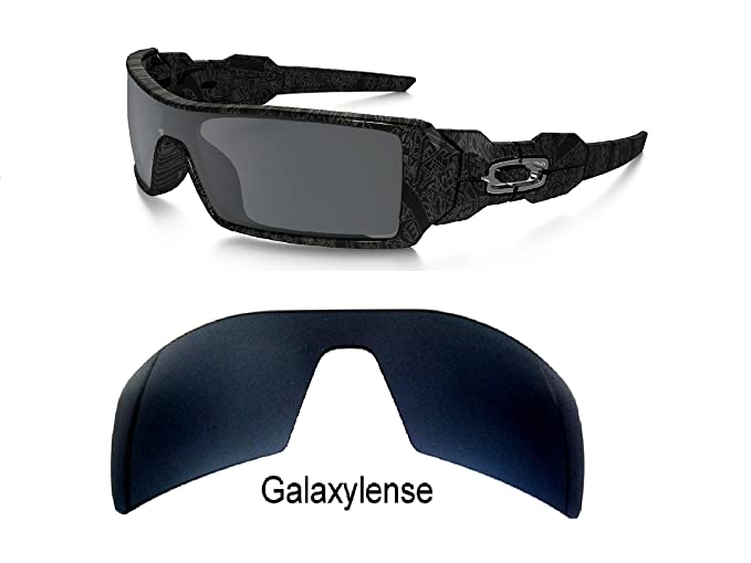 galaxylense Hombre Lentes De Repuesto Para Oakley Torre Perforación Petrolera Gafas De Sol Negro Polarizado