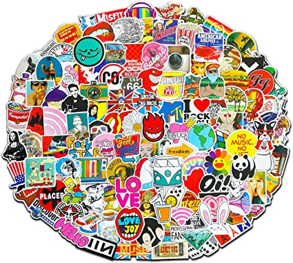 Fngeen Random Sticker 50-500pcs Variety Vinyl Car Sticker Motorcycle Bicycle Luggage Decal Graffiti Patches Skateboard Stickers for Laptop Stickers 100pcs