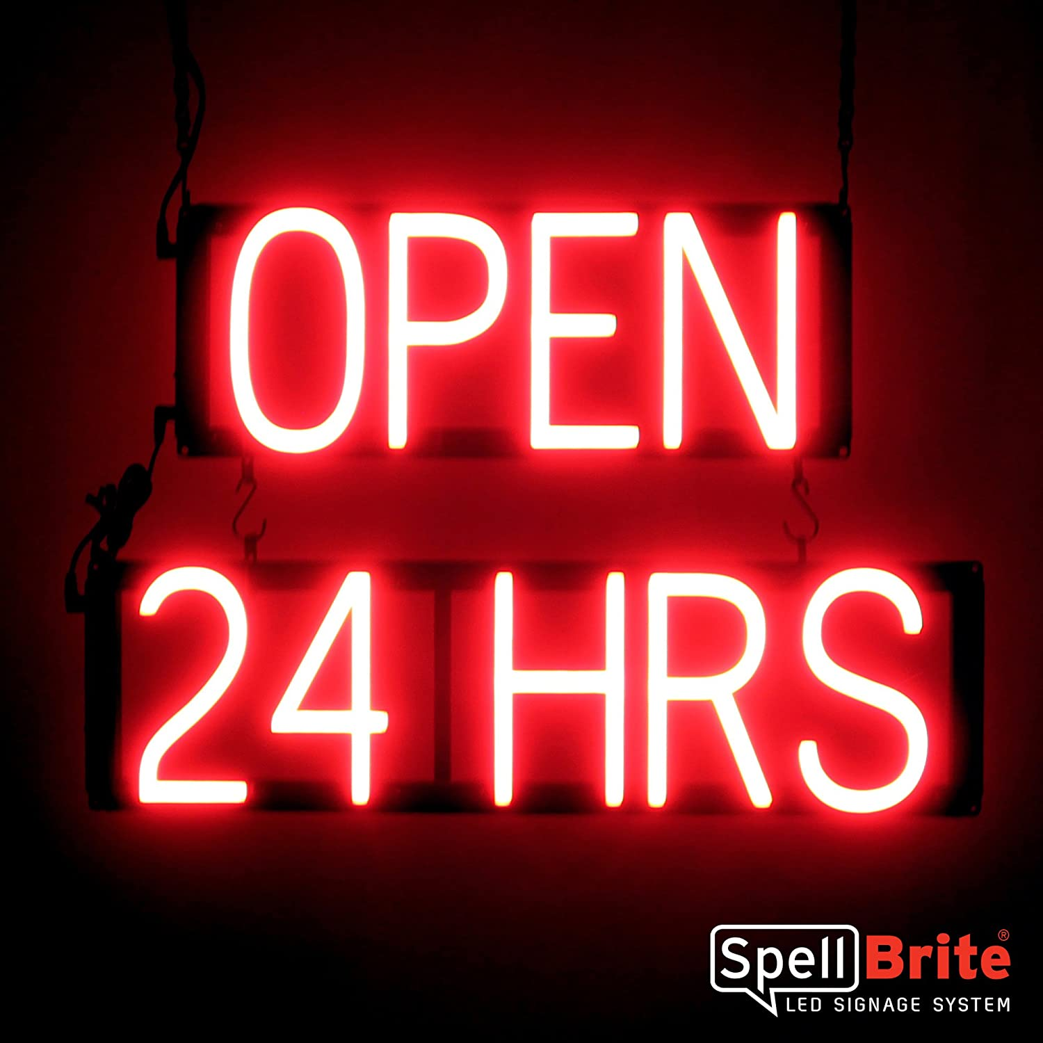 Amazon.com: spellbrite ultra-bright abierto las 24 Hrs Sign ...