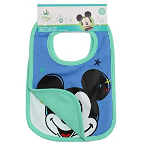 Disney Mickey Babies Bavoirs : lot de 2 2016 Collection - vert