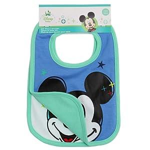 Disney Mickey Babies Bavoirs : lot de 2 2016 Collection - vert