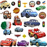 Colourful Cars 3 Cartoon Wall Stickers For Bedrooms boys and girls mural decal