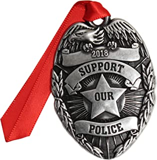product image for Gloria Duchin Pewter Police Badge Christmas Ornament, Silver