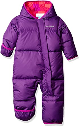 Baby Jackets 6 Months Columbia Baby Girls' Snuggly Bunny Bunting, Iris Glow/Bright Plum Plaid, 12-18 Months