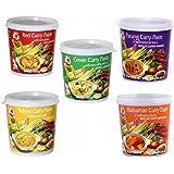 Cock Brand - Probierset Currypasten - 5er Pack (5 x 400g) - 5 Sorten, je 1 Dose