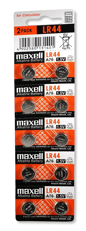 Maxell LR44 1.5V Micro - Pack de 10 pilas alcalinas: Amazon.es: Electrónica