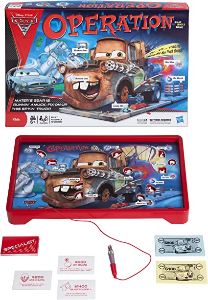 Amazon Com Disney Pixar Operation Cars 2 Edition Toys Games