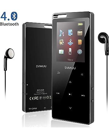 42d87595d SVMUU Reproductor MP3 MP4 Bluetooth 8 GB, Reproductor de Música Deporte 1.8  Pulgadas Cuerpo Efecto