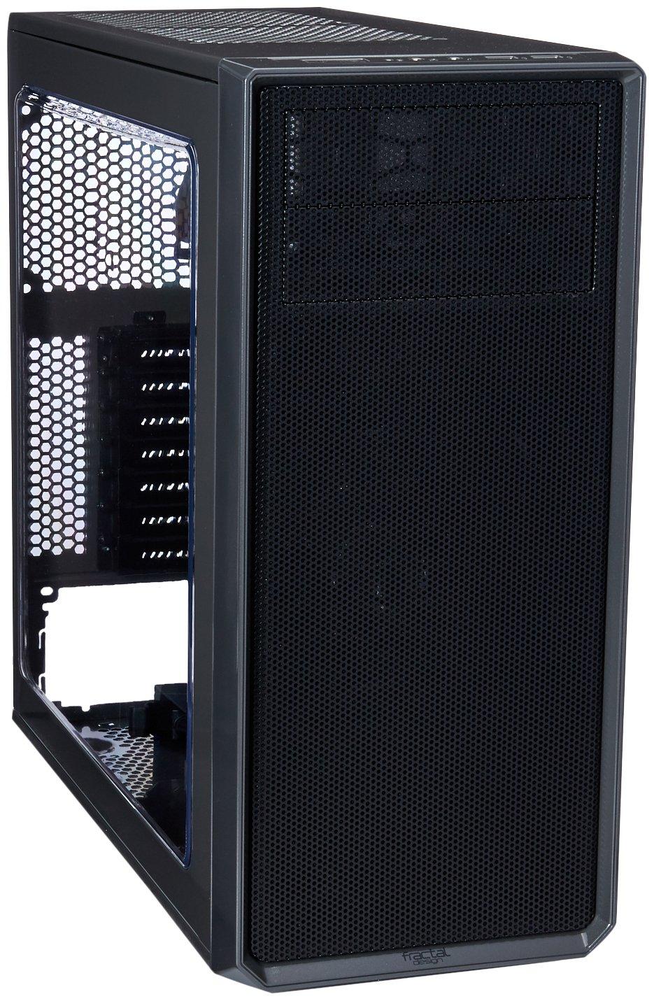 Fractal Design FD-CA-FOCUS-GY-W Focus G ATX Mid Tower Computer Case Gunmetal Gray