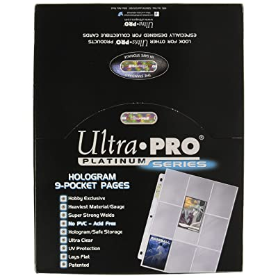 Ultra Pro 9-Pocket Trading Card Pages - Platinum Series (100 Pages): Sports & Outdoors