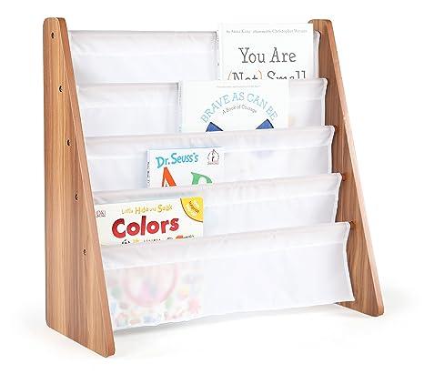Brave Dot Kids Pocket Sling Bookshelf Cedar White