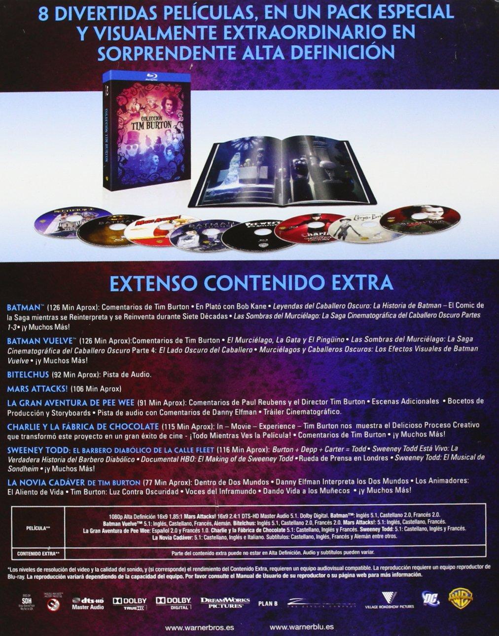Colección Completa Tim Burton [Blu-ray]: Amazon.es: Alan Rickman ...
