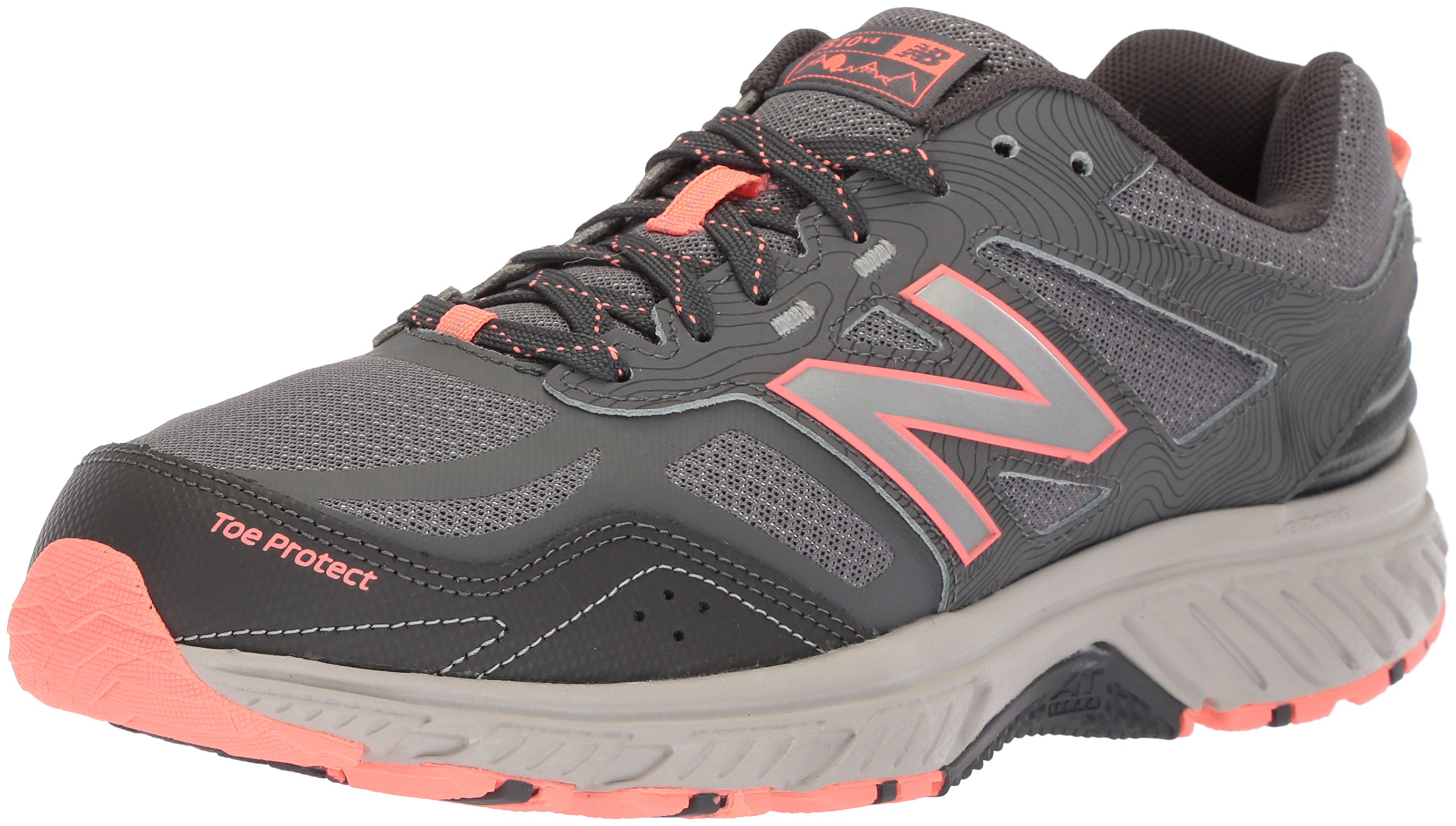 New Balance Women's 510v4 Cushioning Trail Running Shoe, Steel, 10 D US