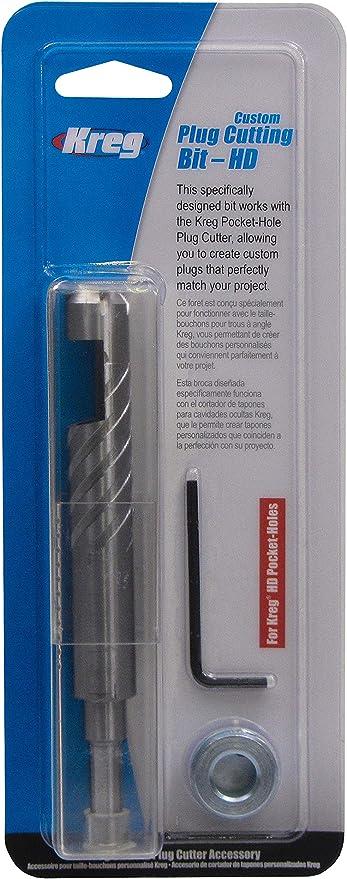 Kreg KPCS-BIT Hardened-Steel Custom Pocket-Hole Plug Cutter and Bit Bundle Kit