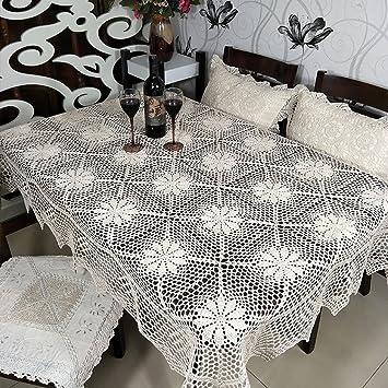 LWF Mantel Europeo Crochet Hecho a Mano de Mantel de Ganchillo Vintage (rectángulo-130 * 170cm) (Tamaño : 130 * 170cm): Amazon.es: Hogar