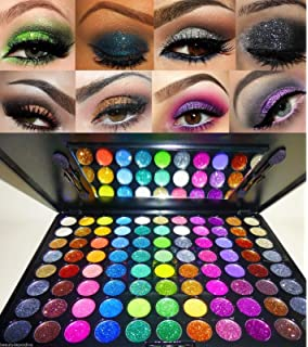 Amazon.com : Elegant 100 Piece Glitter Eyeshadow Makeup kit ...