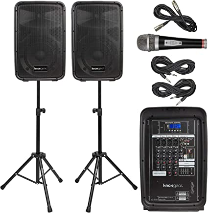 Amazon.com: Knox Dual Speaker and Mixer Kit - Portable 8 ...