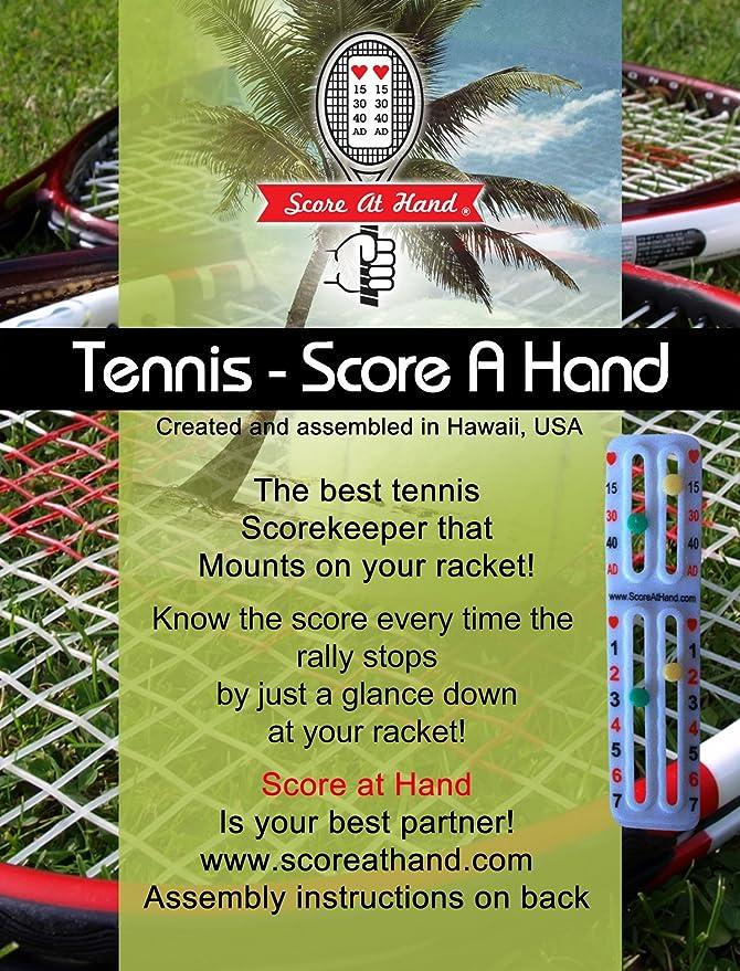 Amazon.com: Score A Mano Raqueta de tenis Score Keeper ...