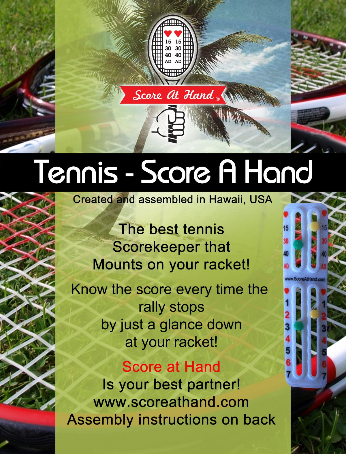Score At Hand Tennis Racket Score Keeper