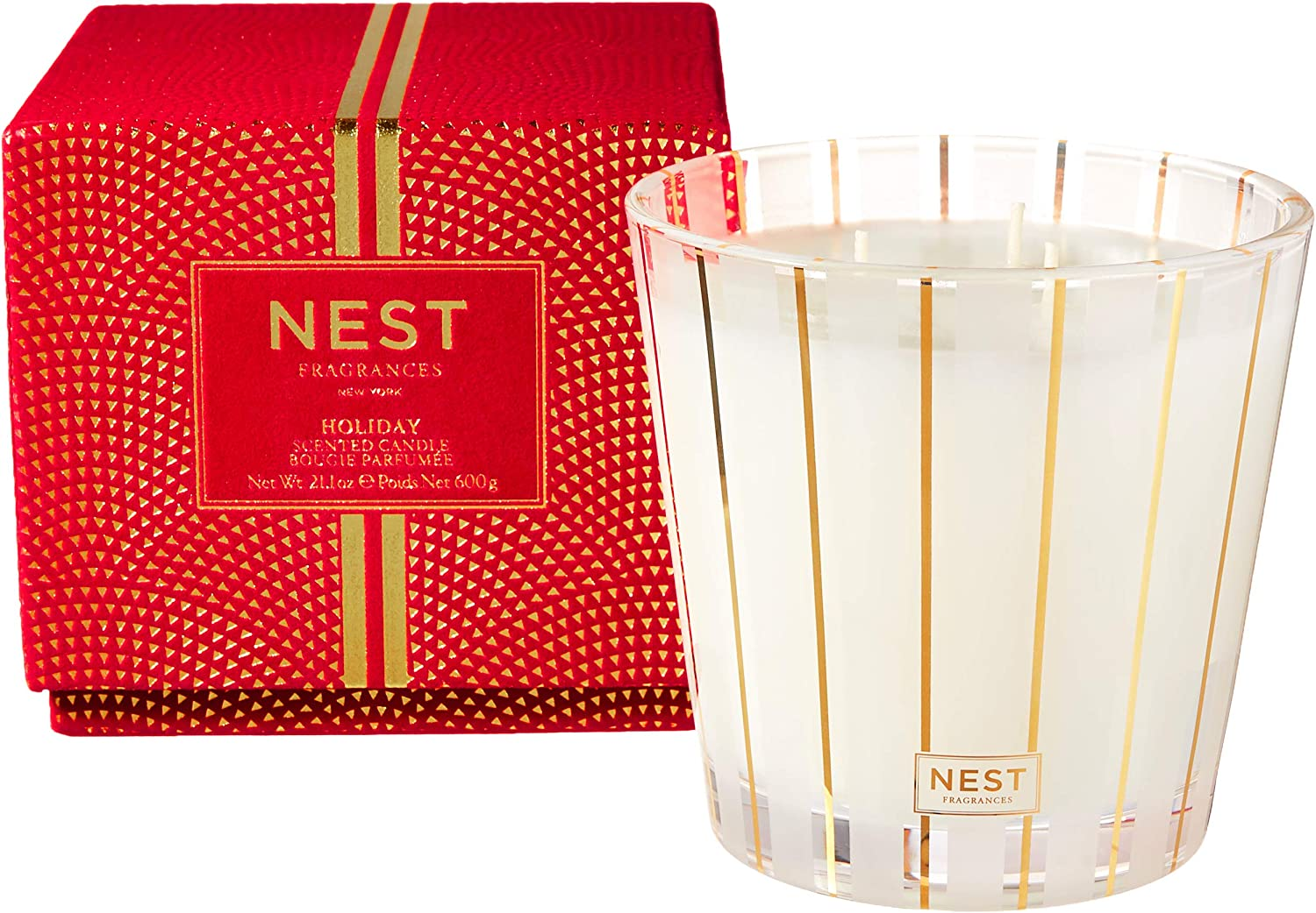 NEST Fragrances 3-Wick Candle- Holiday , 21.2 oz