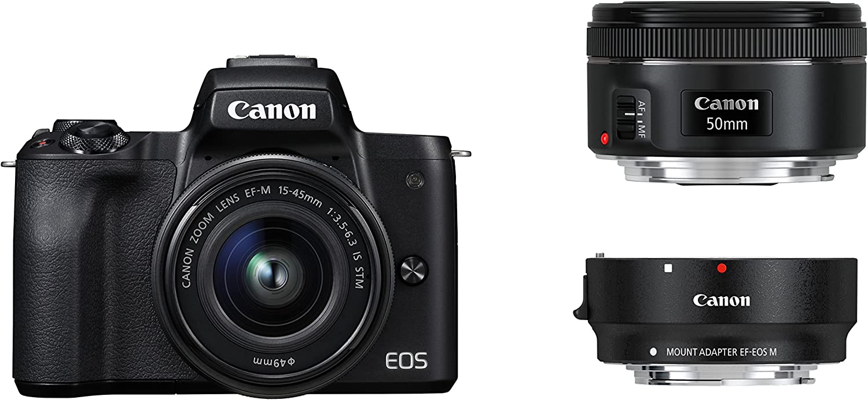 Canon Eos M50 Systemkamera Spiegellos Mit Objektiven Kamera