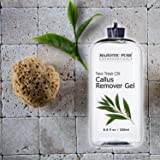 Callus Remover for Feet by Majestic Pure - Gel with Tea Tree Oil for Corn and Callus - Moisturizes & Hydrates Toughened & Dry Skin, Removes Dead Skin, 8.8