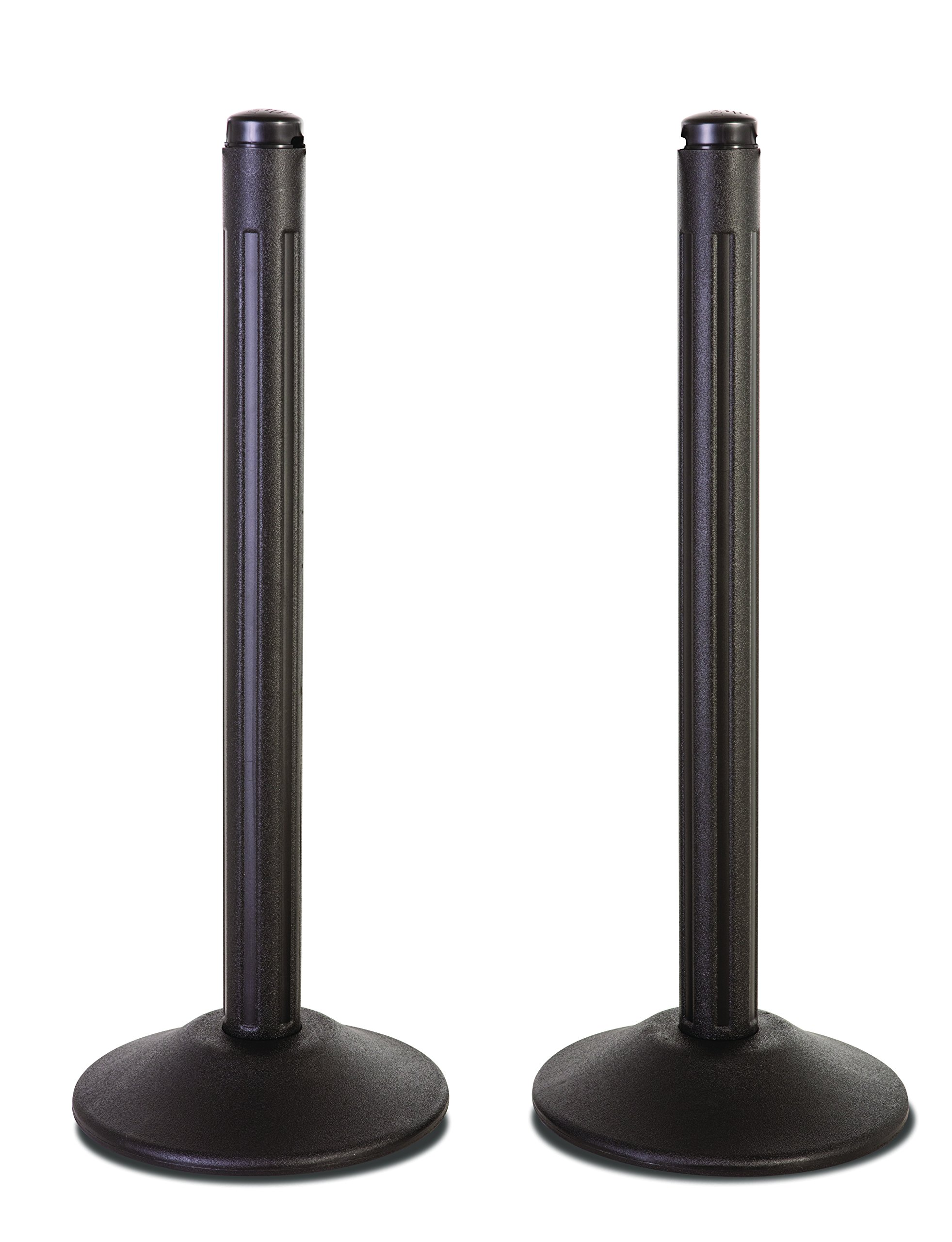 US Weight ChainBoss Outdoor/Indoor Stanchion – No Chain, Black
