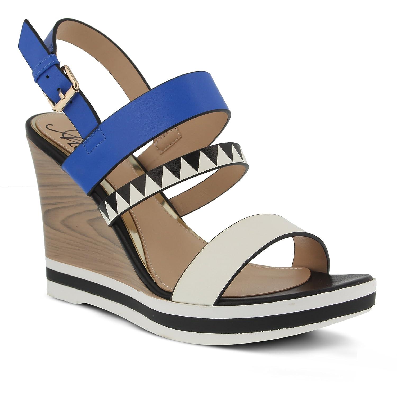Azura by Spring Step Women's Antonietta Wedge Sandal B01N2IPKGW 36 EU/5.5-6 M US Blue Multi
