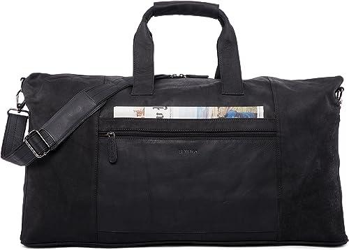 LEABAGS Sydney genuine buffalo leather duffle bag