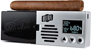 Cigar Oasis Ultra 3.0 Electronic Humidifier for 50-100 Cigar Count Desktop Humidors – Slim sleek profile with lid mount option – The original set it and forget it humidification solution