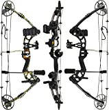 """RAPTOR Compound Hunting Bow Kit: LIMBS MADE IN USA   Fully adjustable 24.5-31"""" Draw 30-70LB pull   Up to 315 FPS   WARRANTY & 100% 30 day GUARANTEE   5 Pin Lighted Sight, Biscuit Rest   W STRING STOP"""