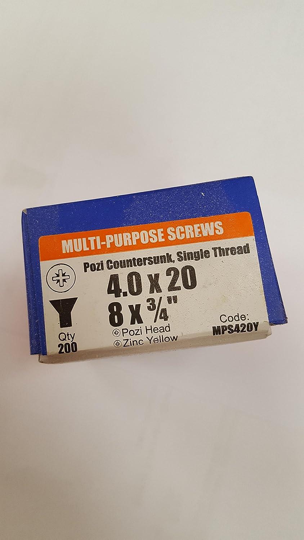 Multi Bargainscrews Lot de 200 vis /à cartons multi usages 3.0 x 10mm