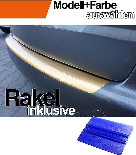 Fabia 3 Kombi Ladekantenschutz Lackschutzfolie von CCW/© mit Profi-Rakel in 3D Carbon Schwarz