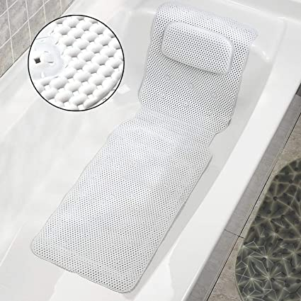 Samincom Full Body Spa Bath Mattress Pillow Mat Soft Quilted Bathtub Cushion