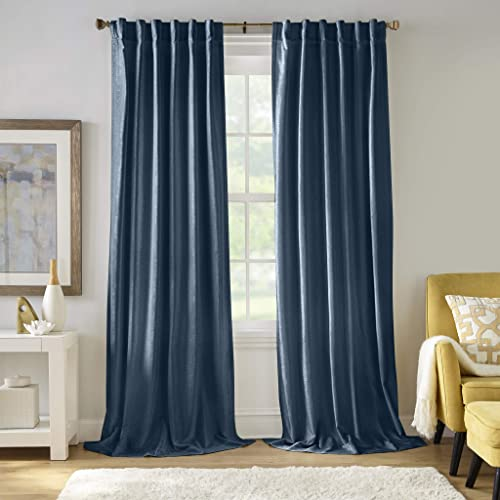Elrene Home Fashions Carnaby Distressed Velvet Window Curtain Panel