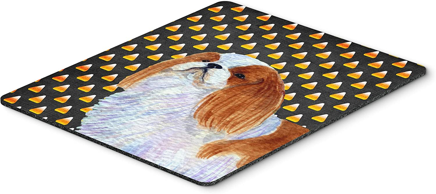 Carolines Treasures SS4300MP English Toy Spaniel Candy Corn Halloween Portrait Mouse Pad Large Hot Pad or Trivet Multicolor