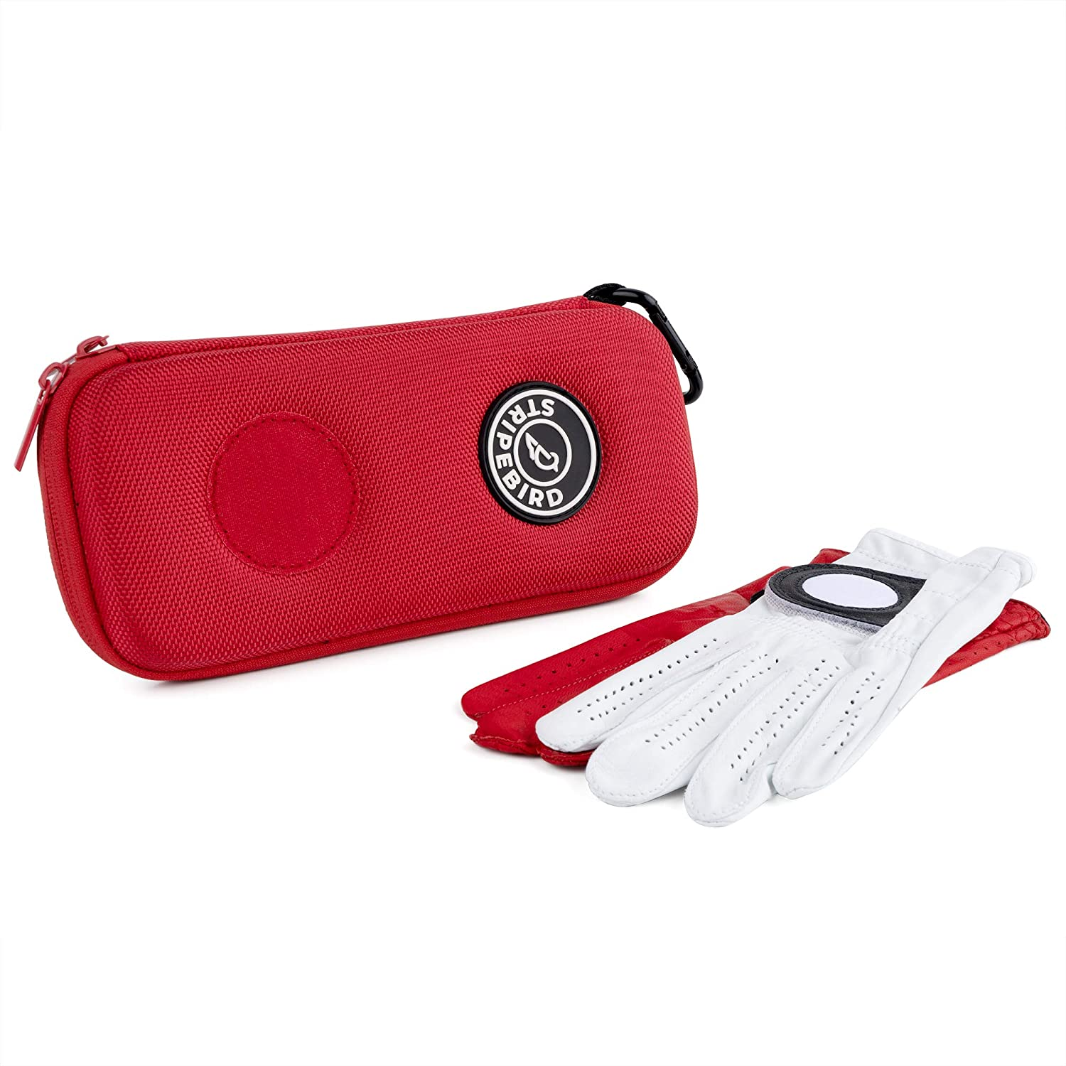 Stripebird - Golf Performance Gloves Holder Case - Protect and Keep Golf Gloves Dry - Moisture Free Storage Design - Includes Golf Bag Clip for Golfers