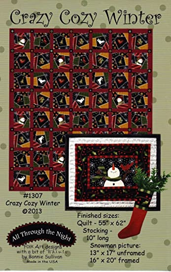 Amazon.com: Crazy Cozy Winter Quilt Pattern from All Through the ... : all through the night quilt patterns - Adamdwight.com