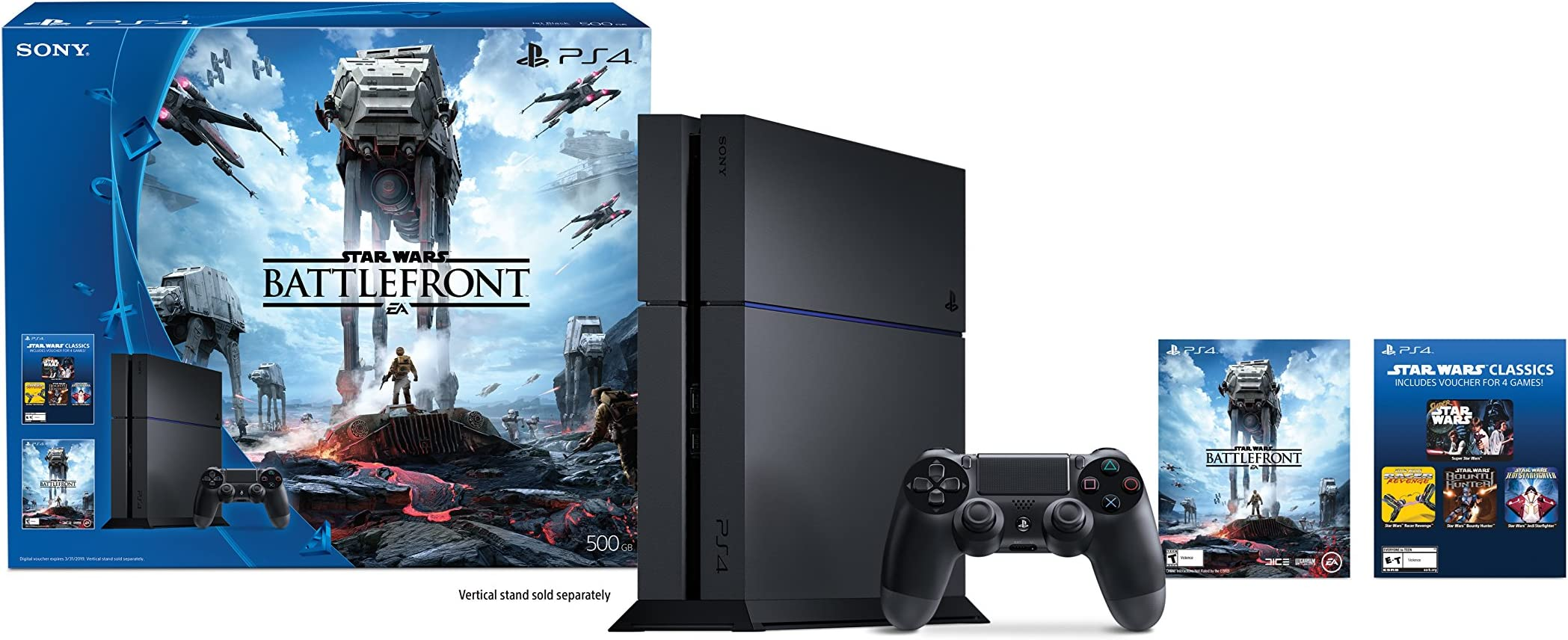 Playstation 4 500gb Console Star Wars Battlefront Sony Slim Hits Bundle Jet Black Region 3 Image Unavailable Not Available For