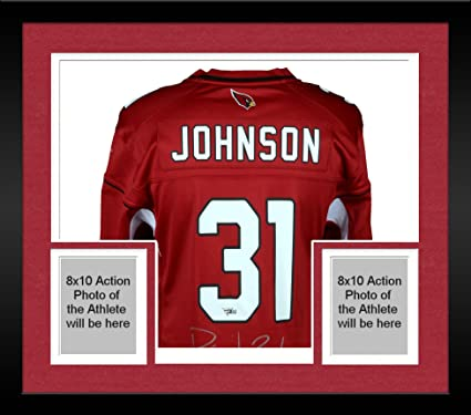 aa29f77b Framed David Johnson Arizona Cardinals Autographed Red Nike Game ...