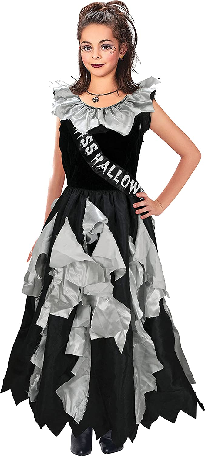 Bristol Novelty Kids Fancy Club Party Zombie Prom Queen Complete Costume Book Week Day Outfit UK: Amazon.co.uk: Clothing