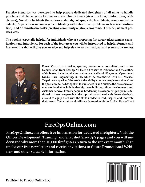 practice scenarios workbook practice scenarios for the fire practice scenarios workbook practice scenarios for the fire service frank viscuso fireopsonline llc 9780991386208 com books