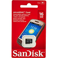 SanDisk SDSDQM-016G-B35A Tarjeta de memoria MicroSD de 16 GB, clase 4, negro
