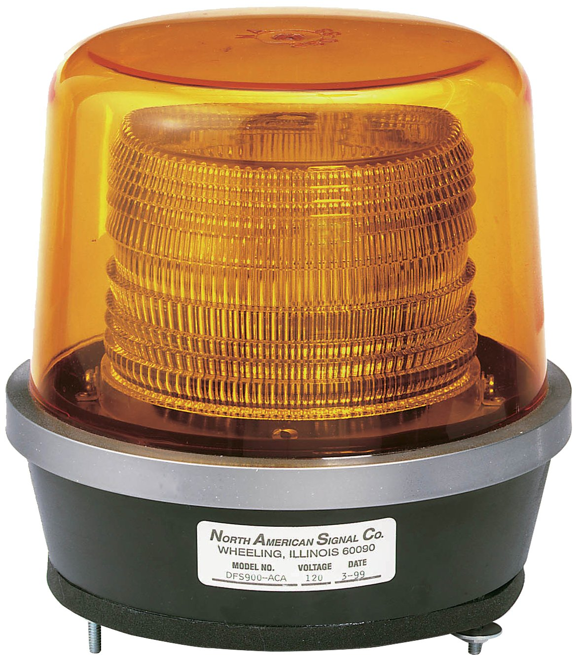 North American Signal DFS900-A Class 2 Double Flash Strobe Light with Permanent Mount, 15.25 Joule, Amber by North American Signal
