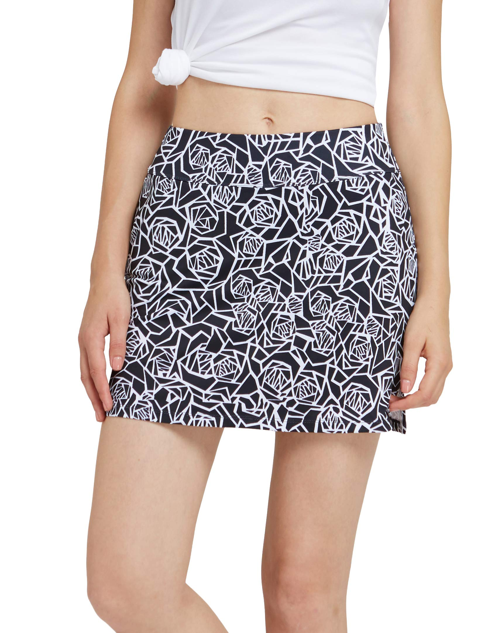 Womens Skort Built in Skirts for Golf Tennis Workout Casual Athleta Wear with Pockets Black Rose by HonourSex