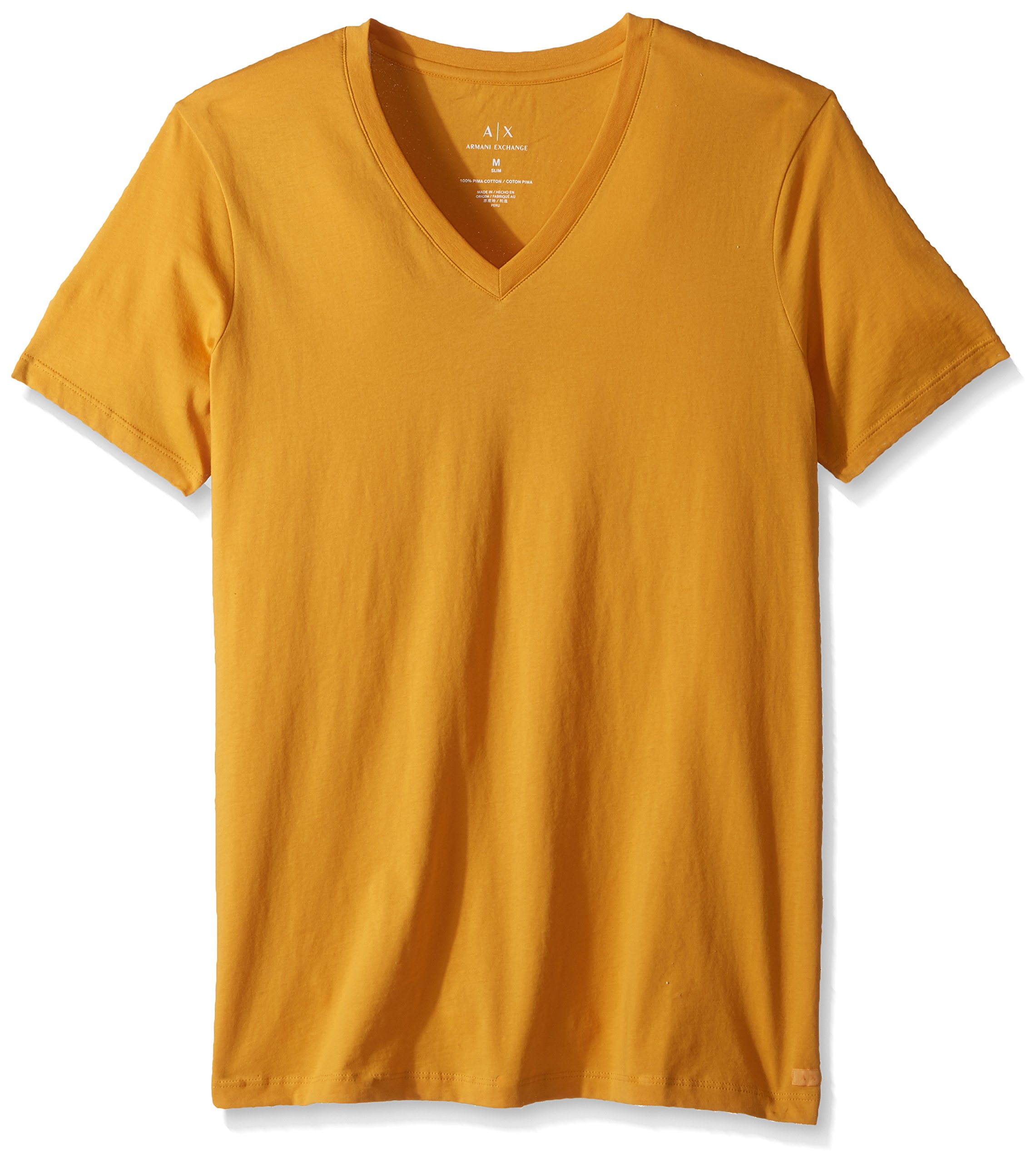 A|X Armani Exchange Men's Classic Cotton V Neck Tee, Sunflowers, M